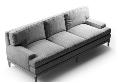 Sutton Sofa 3D Model 3