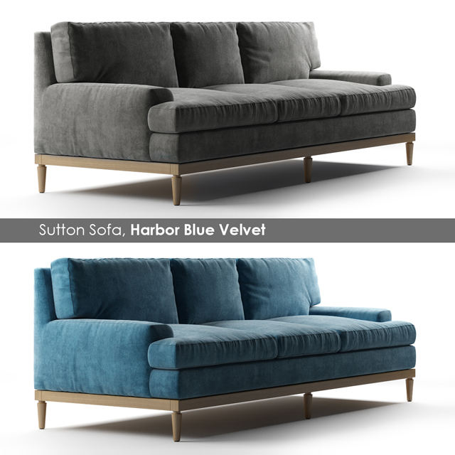 Sutton Sofa 3D Model