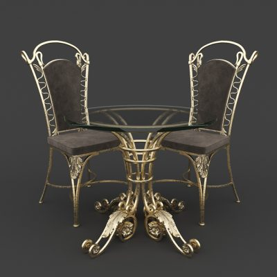 Table & Chair Set-24 3D Model