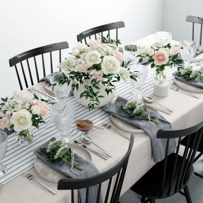 Table & Chair Set-26 3D Model