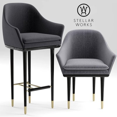 STELLAR WORKS LUNAR LOUNGE CHAIR LARGE 3D model