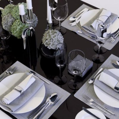 Modern Tableware 3D model