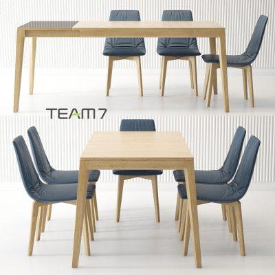 Team 7 Mylon & Lui Table & Chair 3D Model