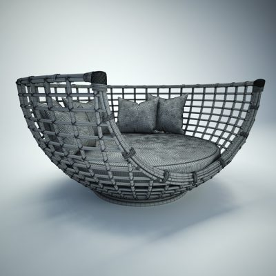 Terra Lounge Chair 3D Model