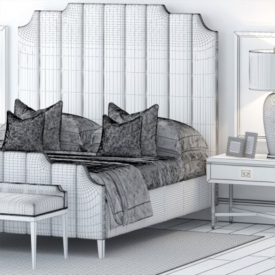 The Sofa And Chair Company Bed Set-4 3D Model