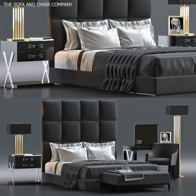 The Sofa And Chair Company Bed Set-7 3D Model
