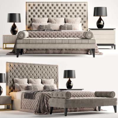 The Sofa And Chair Company Rossini Bed 3D Model