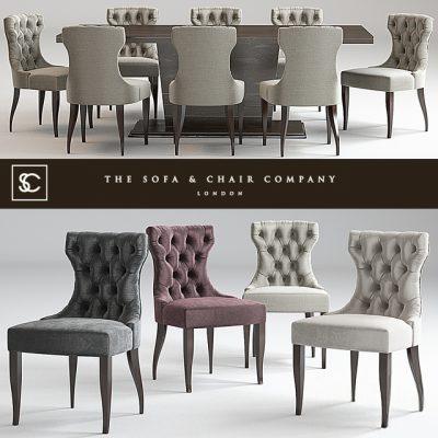The Sofa & Chair Company Langham Table & Guinea Chair 3D Model