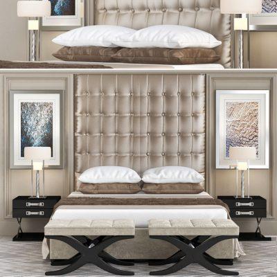 The Sofa & Chair Company Luxury Bedroom 3D Model