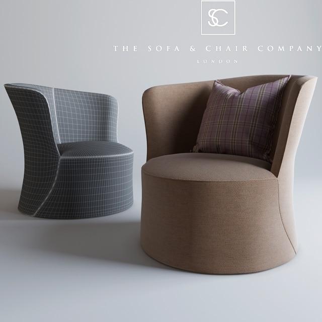 Astounding The Sofa Chair Company Oliver Armchair 3D Model Creativecarmelina Interior Chair Design Creativecarmelinacom