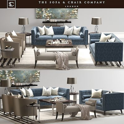 The Sofa & Chair Company - Sofa Set-02 3D Model