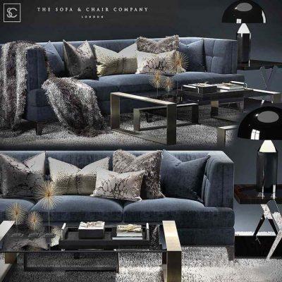 The Sofa & Chair Company Sofa Set-05 3D Model
