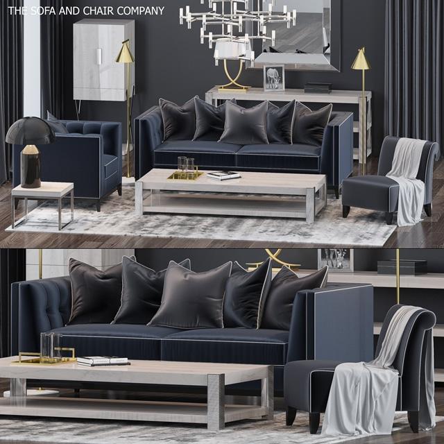 The Sofa & Chair Company - Sofa Set 3D Model