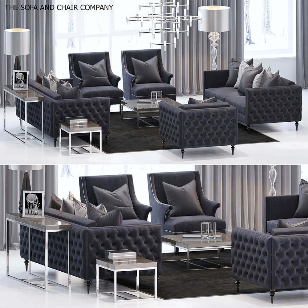 The Sofa And Chair Company Furniture Set Sofa 3d Model