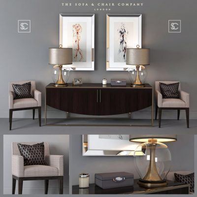 The Sofa and Chair Company Sideboard set-1 3D Model