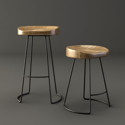 The Tractor Bar Stool 3D Model