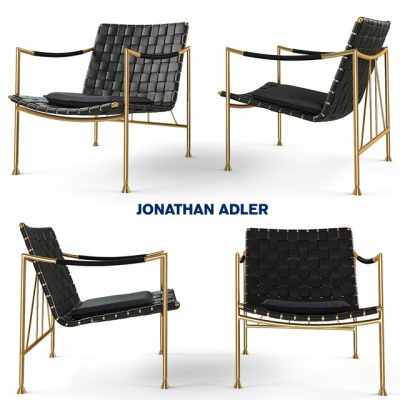 Thebes Lounge Armchair 3D Model