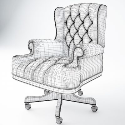 Thomasville Executive Office Chair 3D Model 2