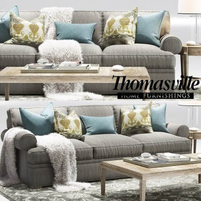 Thomasville Jessie sofa Elements Long Sofa
