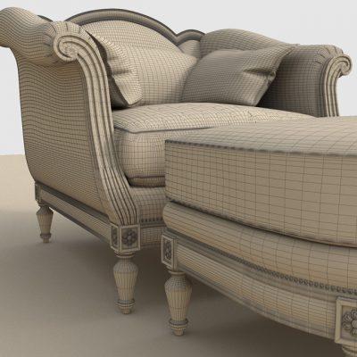 Thomasville Sorrento Armchair 3D Model