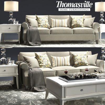 Thomasville Tawny Sofa Set 3D Model