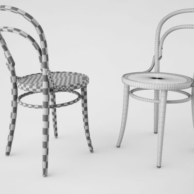 Thonet DejaVu 378 Chair 3D Model