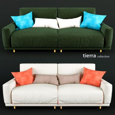 Tierra Collection Sofa 3D Model