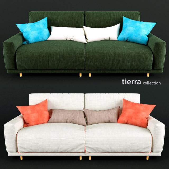 Tierra Collection Sofa 3D Model