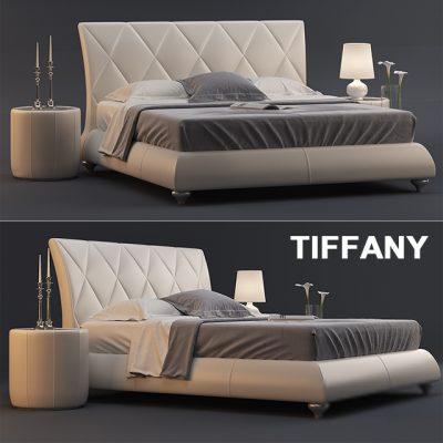 Tiffany-02 Bed 3D Model