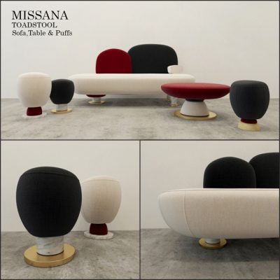 Toadstool Missana Sofa Set 3D Model