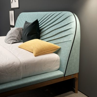 Tonin Casa Letti Michelangelo Bed 3D Model