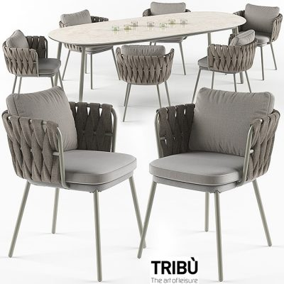 Tosca Table Chair Set 3D model