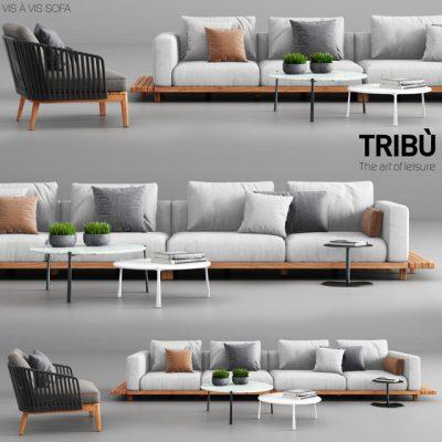 Tribu Vis a Vis Sofa & Armchair 3D Model
