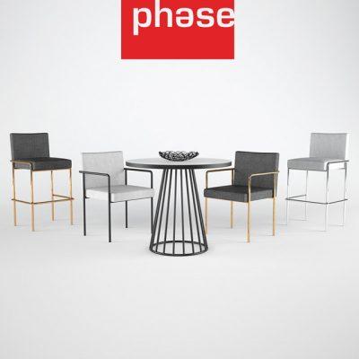 Trolley Side Table & Chair 3D Model