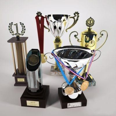 Trophies 3D Model