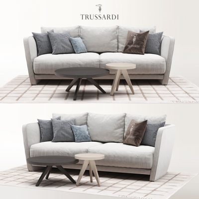 Trussardi Lightshell Sofa 3D Model