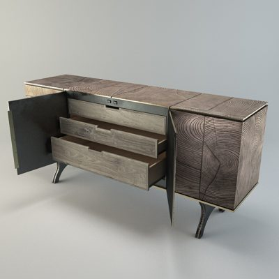 Tuell And Reynolds Sideboard 3D Model 3