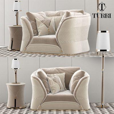 Turri Vogue Armchair 3D Model