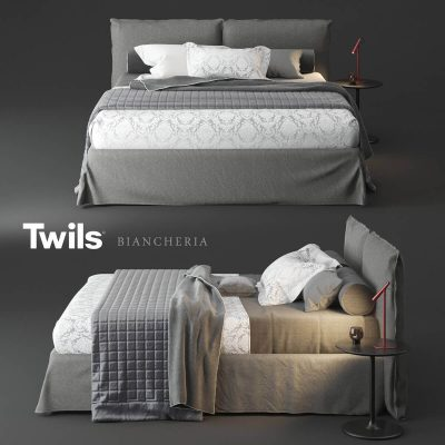Twils Biancheria Bed 3D Model