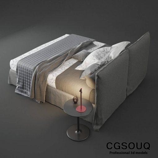 Twils Biancheria Bed 3D Model 2