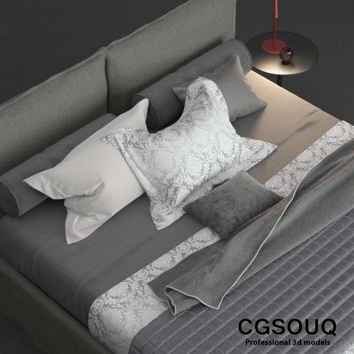 Twils Biancheria Bed 3D Model 3