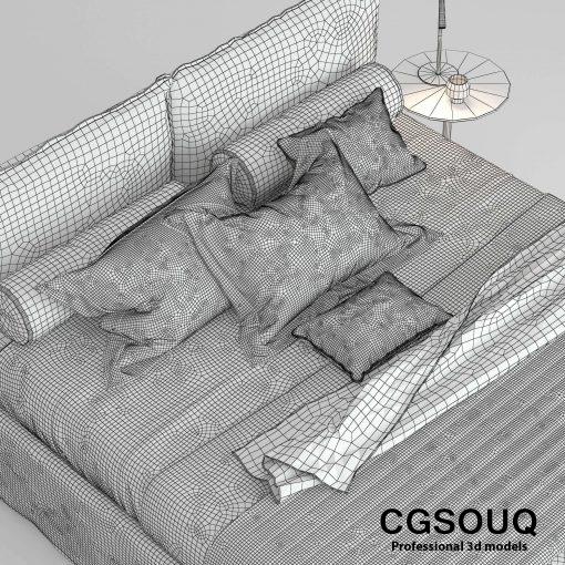 Twils Biancheria Bed 3D Model 4