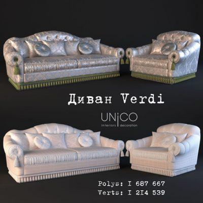 Unico Verdi Sofa 3D Model