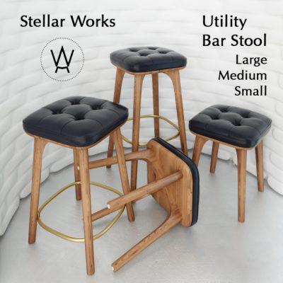 Utility Bar Stool 3D Model