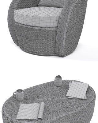 Varaschin Bolero Lounge Chair 3D Model