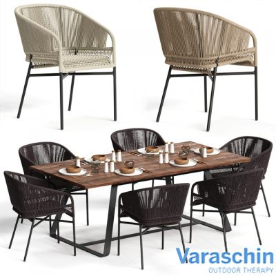 Varaschin Cricket Table & Chair 3D Model