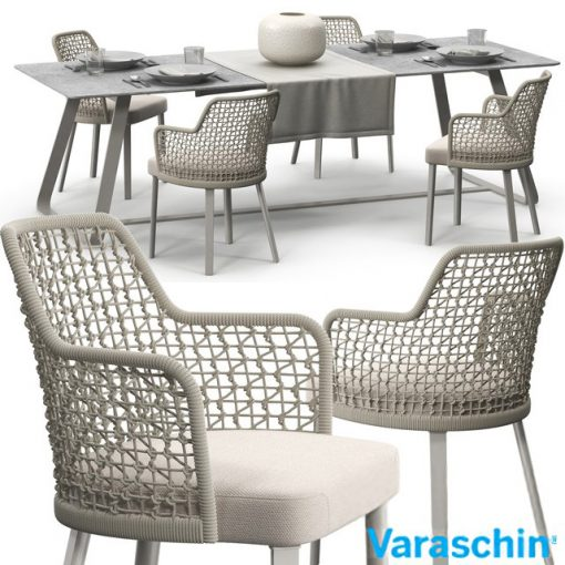Varaschin Emma Table & Chair Set 3D Model