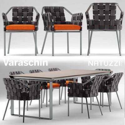 Varaschin Obi Chair & Natuzzi Table - Table & Chair 3D Model