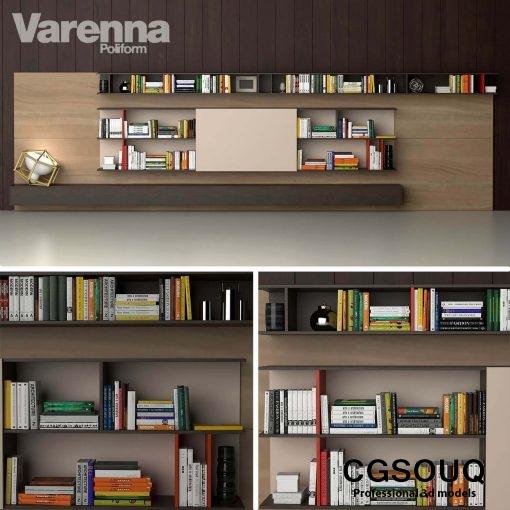 Varenna Poliform DAY SYSTEM 25 Cabinet 3D model (1)