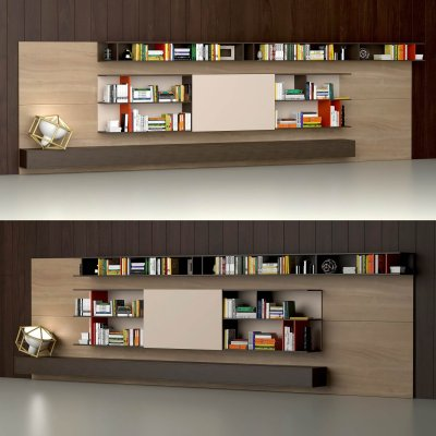 Varenna Poliform DAY SYSTEM 25 Cabinet 3D model (2)